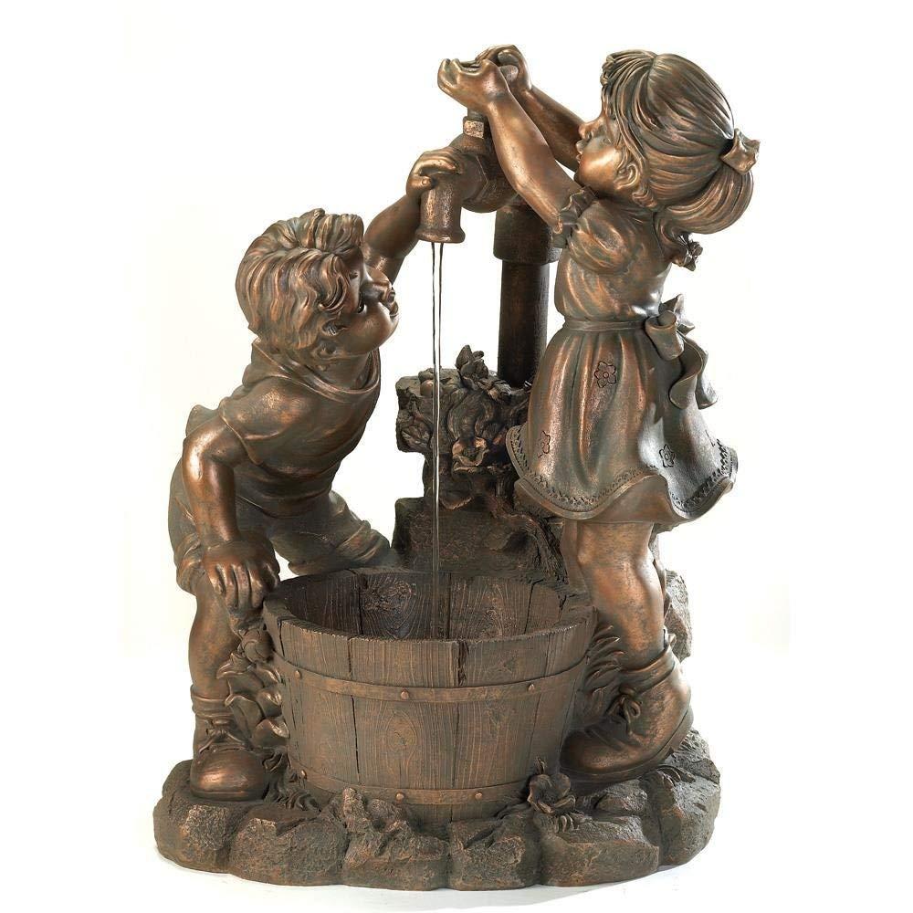 Water Fountains Outdoor, Fun And Play Floor Decorative Garden Fountains, Polyresin
