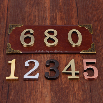 Numbers And Letters / Apartment Door Number/hotel House Number - Buy Door  Numbers Letters,Embroidered Letters And Numbers,Letters And Number Mould ...