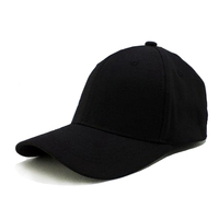 Custom Flex Fit Hats, Black Blank Flex Fit Baseball Cap