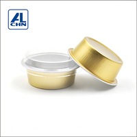ALCHN 25ML Wholesale Smoothwall Small Size Aluminum Foil Bakery Cupcake Mousse/Chocolate Pudding Cup