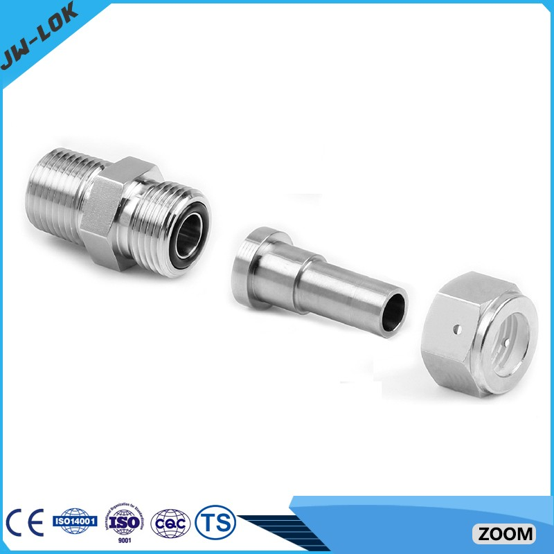 Stainless steel compression bsp o ring face seal fittings