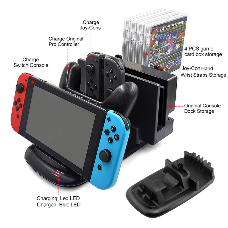 Multi-Function Charging Dock Storing Stand For Nintendo Switch