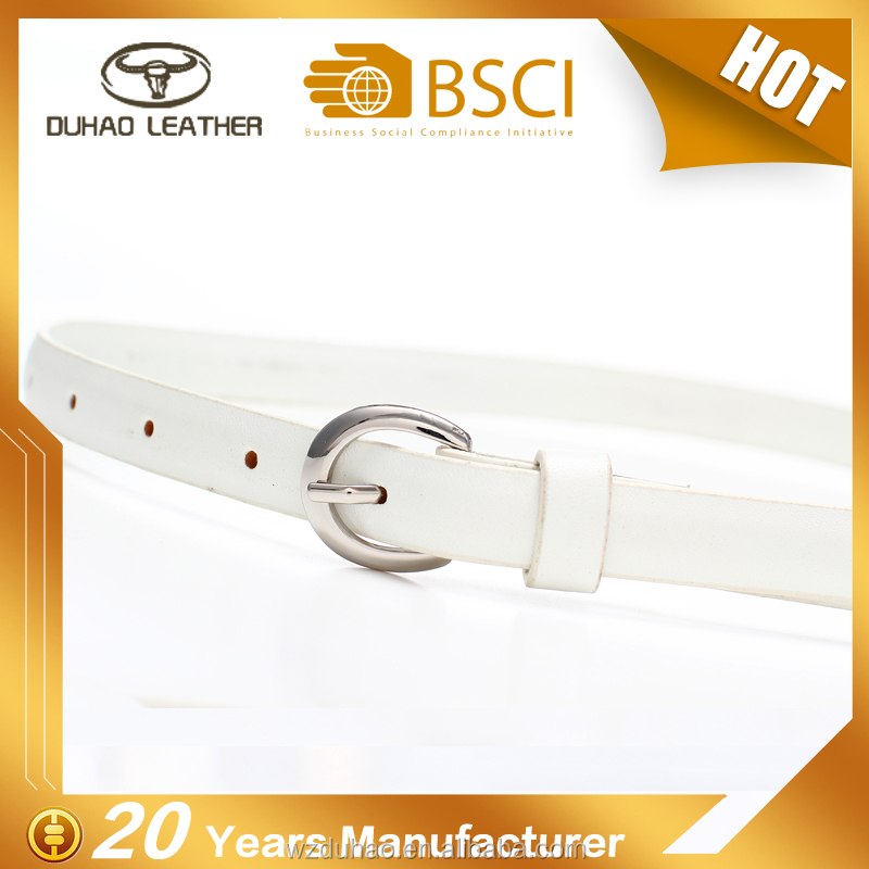 Factory cheapest price white leather pu belt slim belt for women after pregnancy