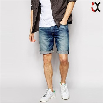 2017 Dark Wash Straight Fit Cheap Denim Shorts For Men Jxh377 ...