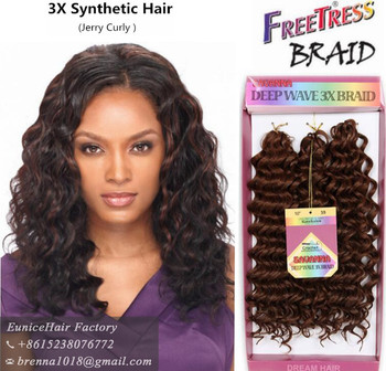 Synthetic Braiding Hair Freetress Crochet Braids Darling Short Weaves Deep Wave Whole Padding