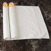 Hot sale jacquard bleach cotton bath mat bathroom