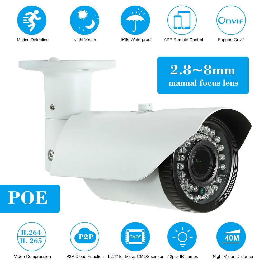 Get Quotations · OWSOO 5MP (4MP/1520P/1440P/1080P) Camera HD Bullet POE IP