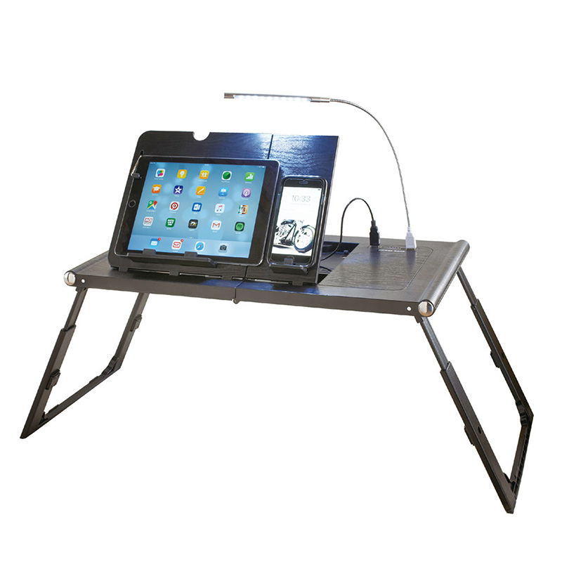 Multifuctional adjustable folding lap desk