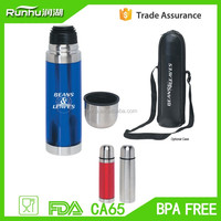 double wall advertisment thermos flask with Pounch RHSP317-350