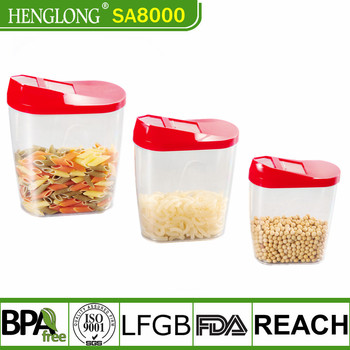 Cereal Keeper 1.0L Transparent Plastic Airtight Food Container Dry Food Storage Container With Fliptop Lid