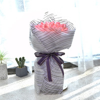 Longsun floral material plastic Korea creative flower wrapping paper waterproof flower wrapping film for bouquet