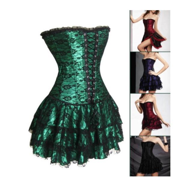 9dd2bf37bf Get Quotations · Royal shapewear vest shaper formal dress shaper lace short  skirt slim waist multicolor green
