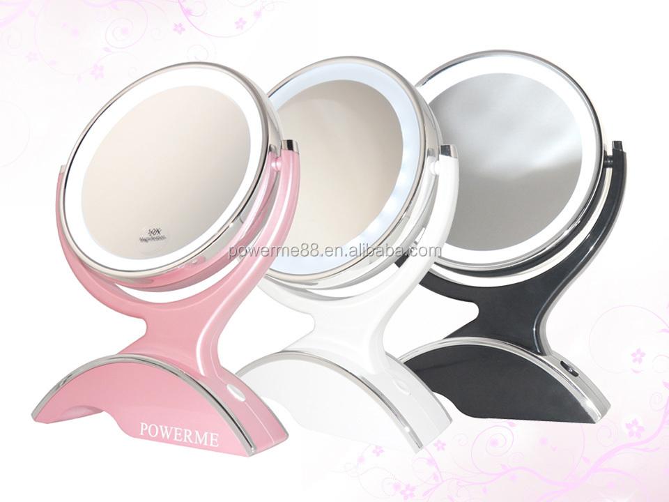 Spiegel Met Vergrootglas : Dubbelzijdig make up spiegel met led light vergrootglas led