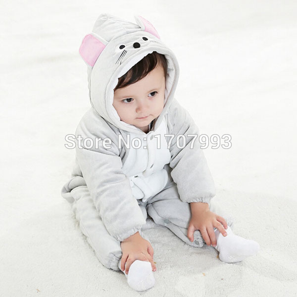 20e0fd424 Buy Cute Baby Animal Clothes Outfits Winter Warm Coral Fleece Infant ...