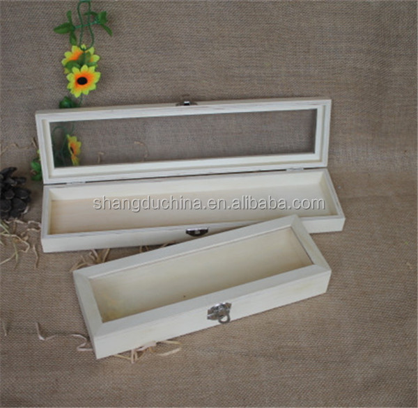 Natural Wholesale Unfinished Wooden Long Stem Rose Box With Clear Lid - Buy  Long Stem Roses Box,Wooden Long Stem Rose Box,Natural Unfinishd Wooden Box  With ...