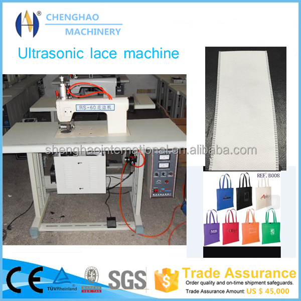 Ultrasonic sewing machine for bra, non-woven bag lace edge sewing