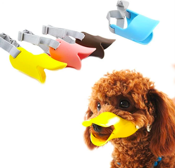 Wholesale Pet Supplies Soft Adjustable and Breathable Silicone Dog Muzzle