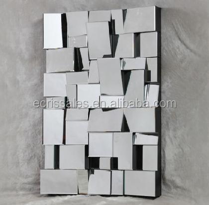 Plain afgeschuinde glazen wand decoratieve spiegel multi gefacetteerde decor spiegel gletsjer - Decoratieve spiegel plakken ...