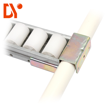 6033 White PE Plastic Wheel Sheet Metal Flow Roller Track Joint For FIFO Rack Storage