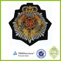 Custom made Uniform embroidered bullion wire blazer badges