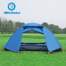 Outdoor Double Layer Double Door Aluminum Tent Pole 2 Man Tent