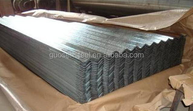 DX51D Zinc coating 40g ~ 180g galvanized corrugated sheet for roofing