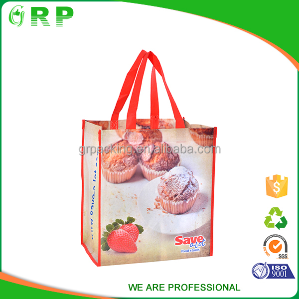 Cute dessert print good quality rip resistance pp non woven shopping bag
