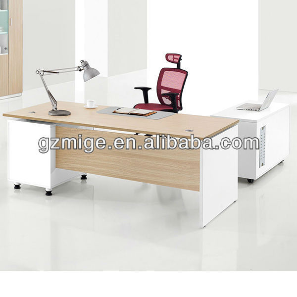 White and Oak Matt Furniture for Office