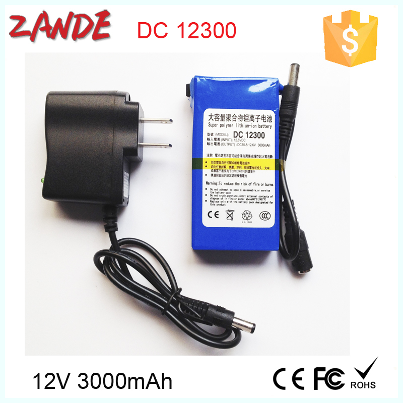 Super 3000mah Dc 12.6v 12v Polymer Li-ion Battery With Ac Charger ...