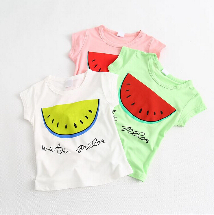 3a8bc8aa Get Quotations · 2015 Hot Selling Children Bobo Choses Clothing Boy Girls  Watermelon T Shirt Summer Style Short Sleeve