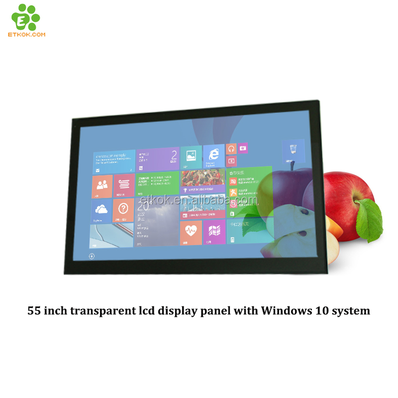 55 inch transparent lcd display touch <strong>screen</strong> for exhibition