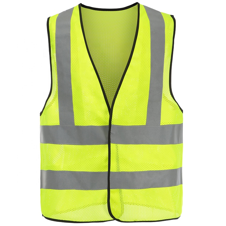 Safety Clothing Customizable Reflective Crystal Lattice Construction Traffic Road Safety Mesh Vest With Free Logo Printing Free Shipping