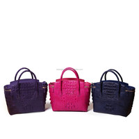 Designe Lady Handbag Custom Real Crocodile Leather Shopping Bag