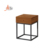 Bedroom cabinet and drawers wooden metal walnut vintage nightstand table with storage