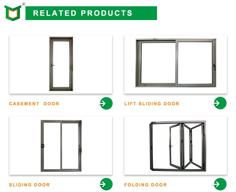 New Products PNOC Aluminum Frame Glass Hinged Casement Door interior french doors triple glazed windows doors