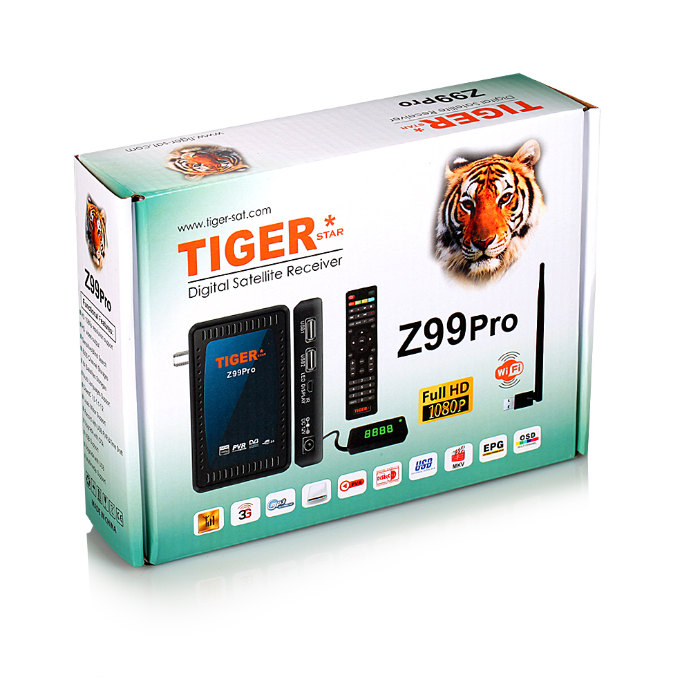 Tiger Satellitenempfänger Z99 Pro Mini DVB S2 Iptv Box