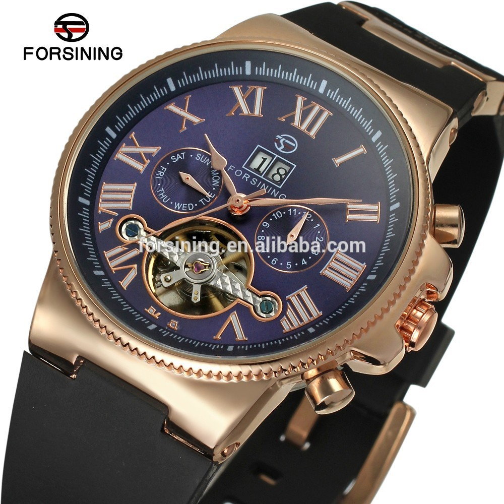 4787ce04dac2 2015 oem moda tourbillon goma automáticos de lujo reloj de china venta al  por mayor marcas