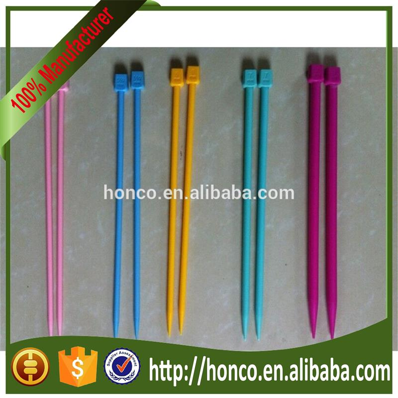 Hot selling Cheapest plastic knitting needle for hand knitting