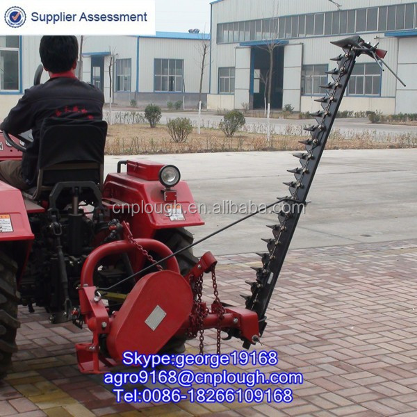 Agricultural meadow sickle type mower for small tractors