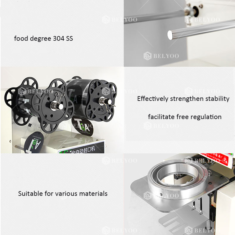 Vacuum disposable tray sealer/plastic box tray sealing machine/vacuum bowl cup packing machine with modified