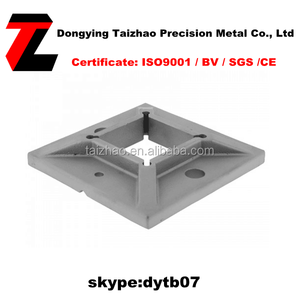 Railing Stainless Steel Square Base Plate for fence post