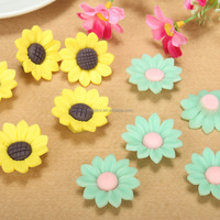 diy sun flower ceramic charms pure handmade polymer clay sunflower beads for necklace jewelry accessories