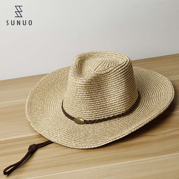 78c0a7346dc07 Promotional Brown Man Cowboy Straw Hat With Adjustable String - Buy ...