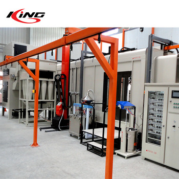 Professional fast color change system Metal Pipe Powder Coating Line