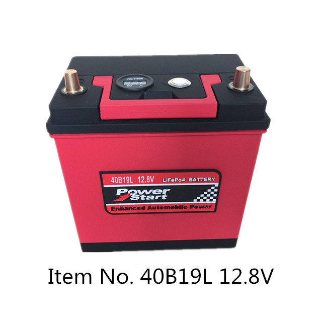 Automotive 12.8V 40AH 100Ah CCA550 starup lithium LiFepo4 battery with emergency start self-help function car battery
