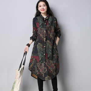new Korean large size women's clothing in long sleeved shirt