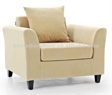 wood fabric one seat sofa