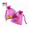 Handmake good product low price large organza drawstring tropical gift bags