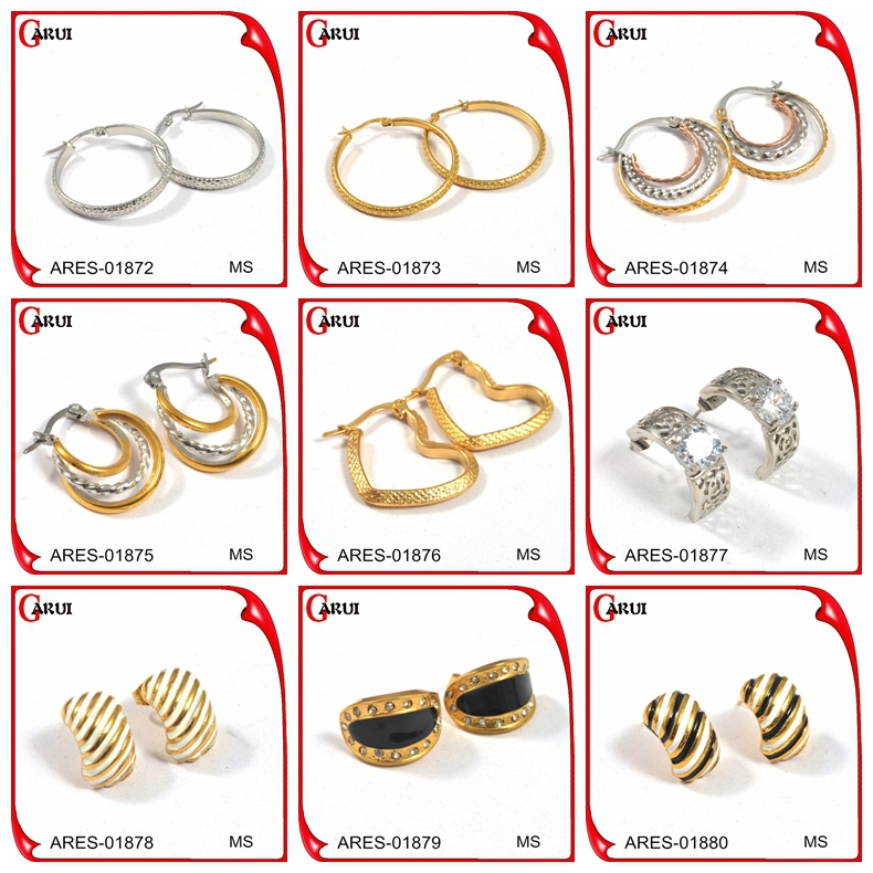 Prices Italian Gold Simple Gold Earring Designs For Women 316l ...