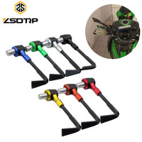 "7/8"" 22mm ABS Aluminum 7 colors best motorcycle handguards Handle Bar End Protective Guard brake Clutch lever guard"